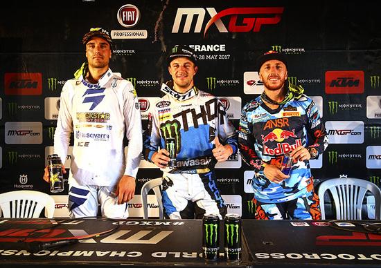 MX 2017. Le interviste dal podio. Il GP della Francia