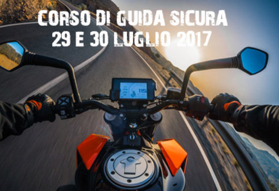 29 luglio 2017: corso guida sicura e prova KTM con Fabio Fasola