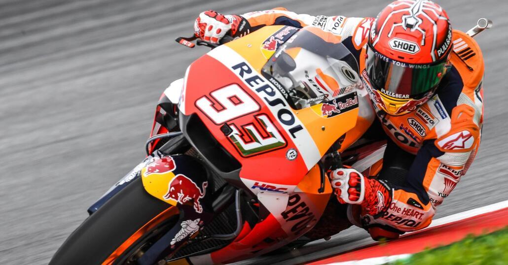 MotoGP. Marquez primo nelle qualifiche in Austria
