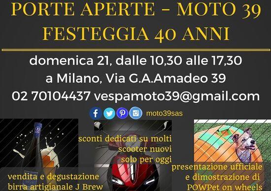 Moto39 festeggia i 40 anni con un porte aperte!