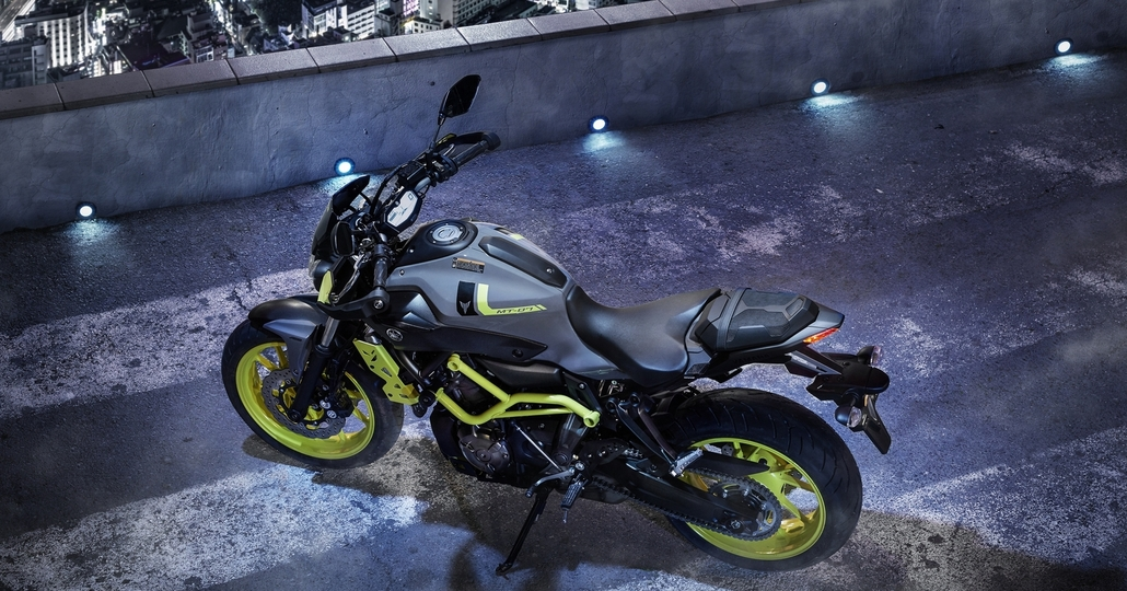 Yamaha MT-07 Moto Cage, il 2016 in Fluo