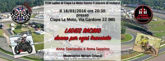Ladies Racing, venerdì 18 da Ciapa La Moto