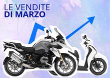 Mercato a marzo: moto a +20%. Le Top 100
