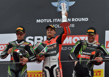 SBK 2016. GP d'Italia. Davies domina anche gara 2 a Imola