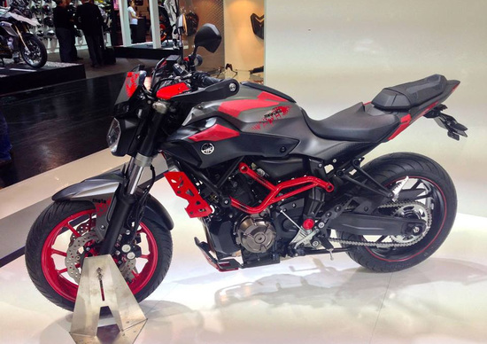 yamaha mt 07 moto cage 2015 intermot colonia. Black Bedroom Furniture Sets. Home Design Ideas