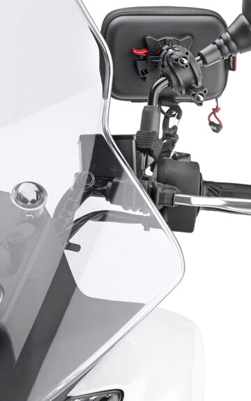 Givi accessori per piaggio mp3 lt 300ie e 500ie - Porta navigatore givi ...