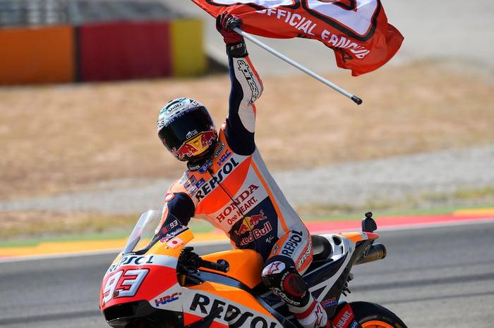 Marquez (Honda) per la terza volta campione della MotoGP