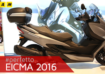 Suzuki Burgman 400 2017 ad EICMA 2016: video