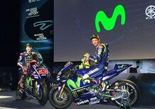 La presentazione della nuova Yamaha M1 e del team 2017, con Rossi e Viñales