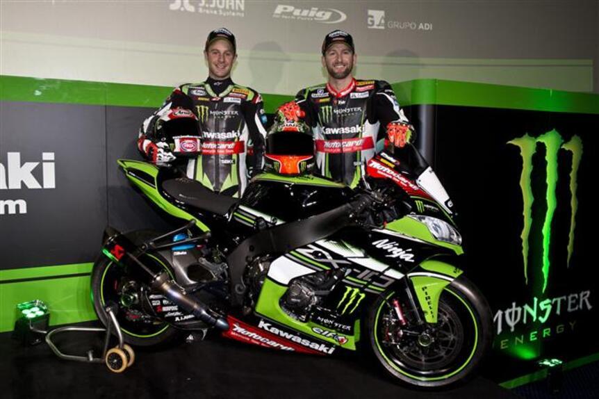 SBK. Presentato a Barcellona il Kawasaki Racing Team
