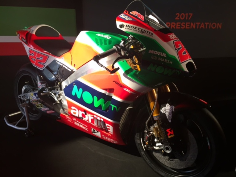 MotoGP 2017. Presentato il team Aprilia