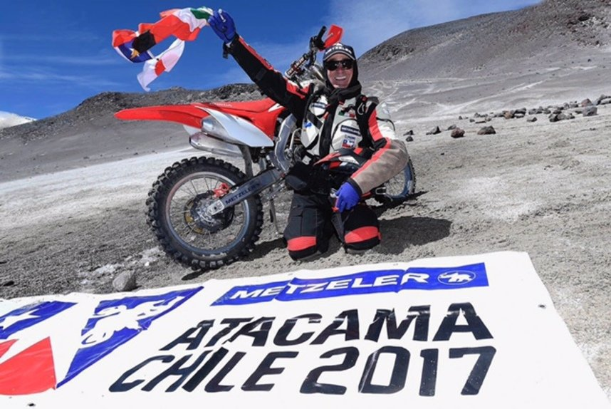 Metzeler MC 360: tre record nell'ascesa al Nevado Ojos del Salado (2)