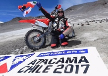 Metzeler MC 360: tre record nell'ascesa al Nevado Ojos del Salado